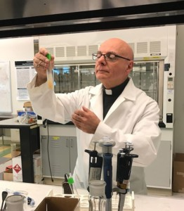 Fr. Buonopane at work in his lab
